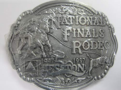 Hesston 1997 National Finals Rodeo Adult Cowboy Belt Buckle New (4