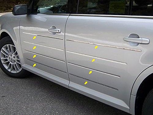 Flex Chrome Insert (Ford Flex 2009-2015 Stainless Chrome Body Side Molding Trim Inserts 16PCS)