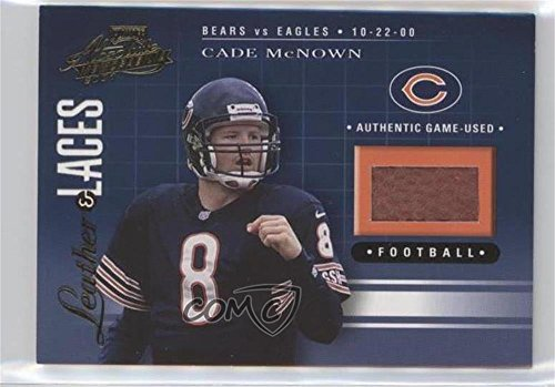 Cade McNown #402/550 (Football Card) 2001 Playoff Absolute Memorabilia - Leather & Laces #LL18