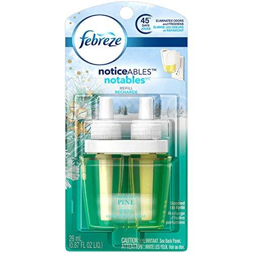 Febreze noticeables Special Edition Winter Collection ~ Fresh Cut Pino ~ plug in perfumado Ambientador Eléctrico Recambio...
