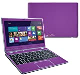 """Decalrus - Acer Aspire V5-122P with 11.6"""" TOUCH screen PURPLE Texture Carbon Fiber skin skins decal for case cover wrap CFacerV5-122pPurple"""