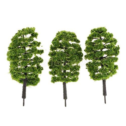 Review 10pc Plastic Model Trees
