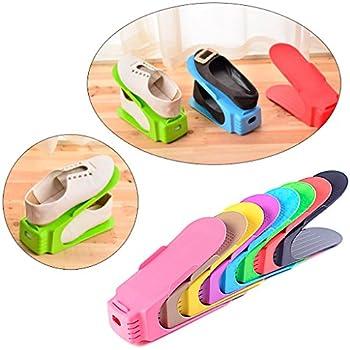 Wrisky Adjustable Shoe Slotz Organizer Shoe Storage Rack Space Saver Rack  Holder   Color At