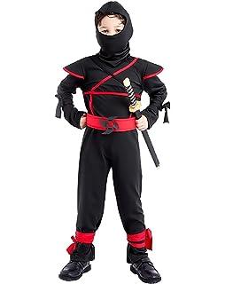 Katara Talla L (8-10 años) Disfraz de Ninja Dragón para Niña ...