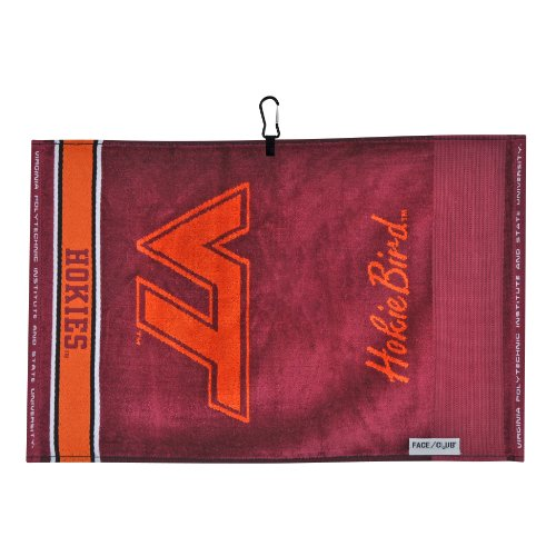 Team Effort Virginia Tech Hokies Face/Club Jacquard Towel