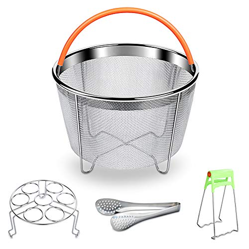 Swify Instant Pot Accessories Steamer Basket Set,  Compatible for 6/8QT Instant Pot Pressure Cooker, 18/8 Stainless Steel by Swify