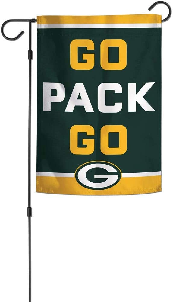 "WinCraft Green Bay Packers Slogan Garden Flags 2 Sided 12.5"" x 18"""