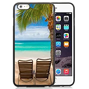 NEW Unique Custom Designed iPhone 6 Plus 5.5 Inch Phone Case With Tropical Beach Relaxation_Black Phone Case