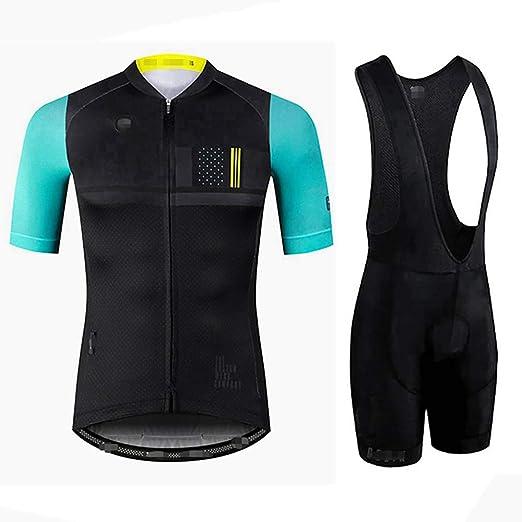 DAN Conjunto Ropa Equipacion Traje Ciclismo Hombre para Verano, Maillot Ciclismo Hombre+Culotte Ciclismo Culote Bicicleta Secar, Absorbe la Humedad, Transpirable (XS,11): Amazon.es: Deportes y aire libre