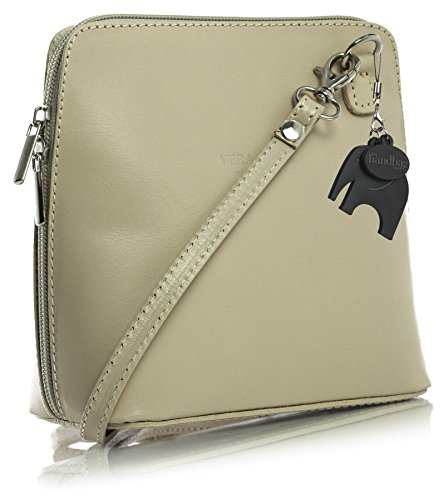 Abby Bag Protection Womens LiaTalia Cross 2012 Dust Genuine Z with Leather Italian Light Body Beige Handbag a Mini 7pwPxfpqOd