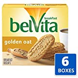 belVita Golden Oat Breakfast Biscuits, 6 Boxes of 5 Packs