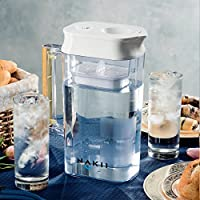 Fast Filtering with Patented ACF Military Technology 2 Pitcher No Black Specks, Nakii Long Lifespan Water Filter Pitcher