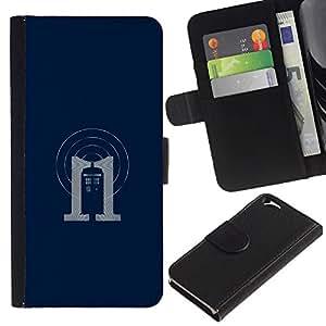 KLONGSHOP // Tirón de la caja Cartera de cuero con ranuras para tarjetas - Dr 0MS stand - Apple Iphone 6 //