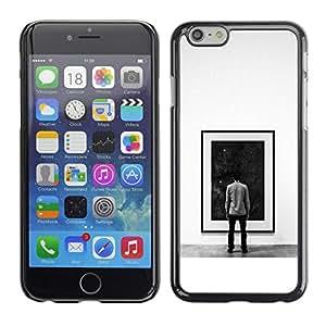 A-type Arte & diseño plástico duro Fundas Cover Cubre Hard Case Cover para iPhone 6 (Pintura Espacio Profundo)