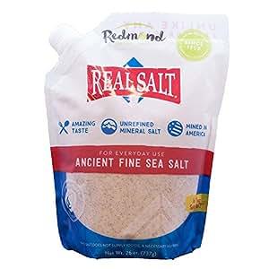 Redmond Real Salt, Fine Ground, 26 Ounce Pouch
