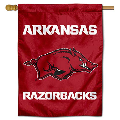 Banner Razorbacks Ncaa Arkansas - College Flags and Banners Co. Arkansas Razorbacks Double Sided House Flag
