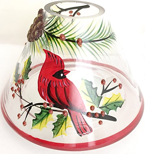 Biedermann & Sons Handpainted Jar Shades, Cardinal Scene, 4-Count by Biedermann & Sons (Image #1)
