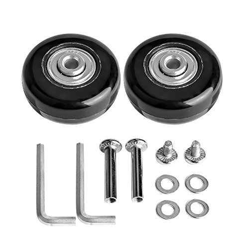 Case Bearing (B.LeekS Luggage Suitcase Wheels with ABEC 608zz Bearings, Inline Outdoor Skate Replacement Wheels with Multiple Sizes, One Set of (2) Wheels 50mm × 18mm)