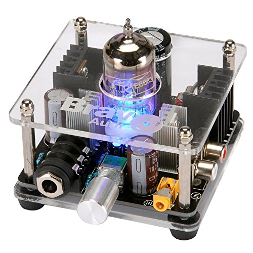 Bravo Audio V2+ Upgrade Class A GOLDEN LION ECC82 Tube Multi-Hybrid Headphone Amplifier