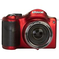 Polaroid IS2634-RED/KIT-AMX 16 Digital Camera with 3-Inch LCD (Black)