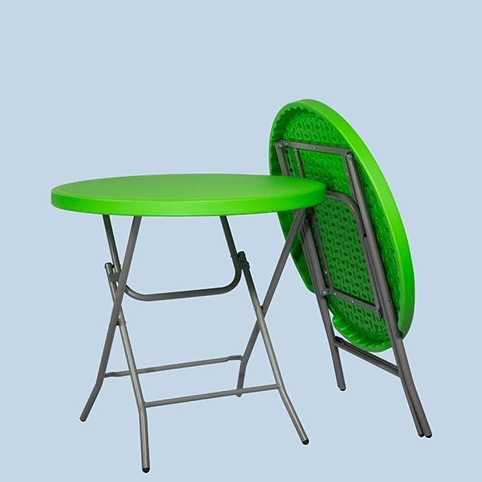 YZjk Mesa Redonda pequeña Plegable para el hogar/jardín, Mesa Plegable de plástico para balcón súper Resistente, Capacidad de Carga de hasta 170 kg (Color: Blanco): Amazon.es: Hogar