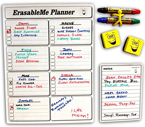 Magnetic Dry Erase Weekly Planner and Chore Chart for REFRIGERATOR - INCLUDES - Planner 16