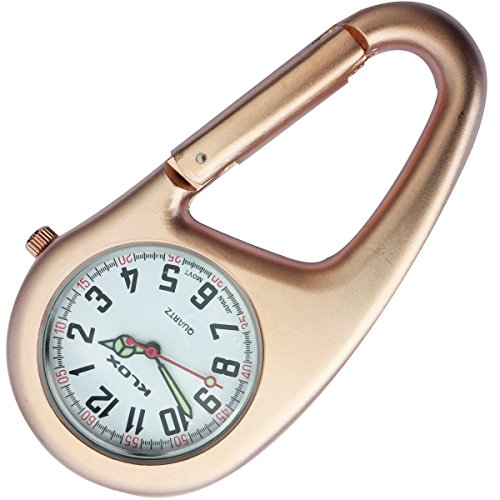Clip-on Watch - Rose Gold Belt Fob Watch