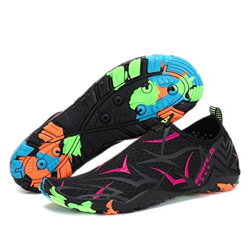 Nero Surf Bagno Scarpe Traspiranti Per Da Scoglio Acqua Spiaggia rosa Leggere Donna Immersione Scarpette Voovix Uomo Ciabatte Yoga OHRn6xanU