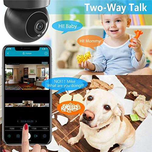 Indoor Security Camera, VICTONY Wireless 1080P Home Camera, WiFi Home Surveillance IP Camera for Baby/Elder/Pet/Nanny Monitor, Pan/Tilt, Two-Way Audio & Night Vision(E24) by VICTONY (Image #4)