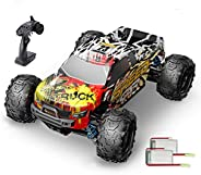 DEERC RC Cars 9310 High Speed Remote Control Car for Adults Kids 30+MPH, 1:18 Scales 4WD Off Road RC Monster T
