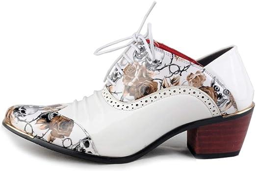 AZLLY Botines Retro para Hombre Zapatos de Cuero de Moda Zapatos ...