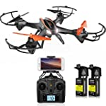 DBPOWER UDI U842 Predator WiFi FPV Drone with HD Camera 2 4G 4CH 6 Axis Gyro RTF Low Voltage Alarm Gravity Induction and Headless Mode Includes Bonus Battery