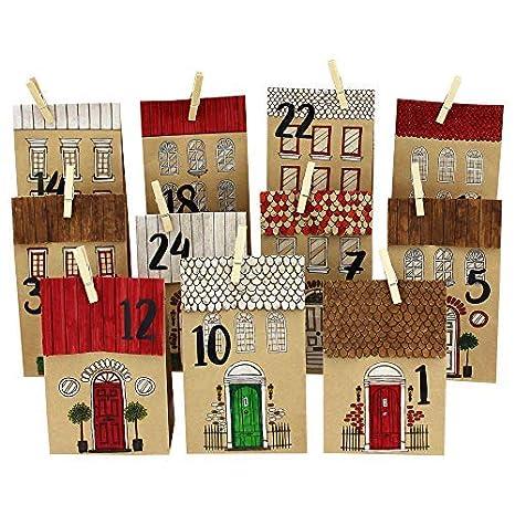 Papel Dragón Diy Calendario De Adviento Casas Para Colorear