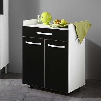 Beistellschrank Für Küche Schwarz Weiß Pharao24: Amazon.De: Küche