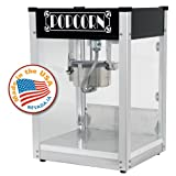 Paragon Gatsby Black Pop 4 Ounce Popcorn Machine for Professional Concessionaires Requiring Commercial Quality High Output Popcorn Equipment