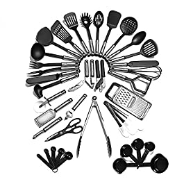 Kitchen Utensil Set – 40 Nylon Cooking Utensils – Kitchen Utensils with Spatula – Kitchen Gadgets Cookware Set