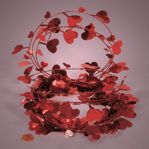Red Heart Garland by Paper Mart