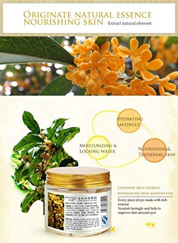 Gold Osmanthus Eye Patches Mask Collagen Gel Protein Sleep Patche Remover Dark Circles Eye Bag Eye care 80Pcs/ Bottle