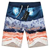 Men's Quick Dry Boardshorts Bathing Suits Swimming Trunks Tropical Island Beach Shorts, XXXL(36-38), Hawaii