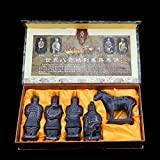 Chinese Shi Huangdi Terracotta Warrior - Terra cotta Army Soldier Warrior of Qin Dynasty, First Emperor of China History, Unique Miniature Figure Figurine Likeness Replica Sculpture, 6 Inch (Set of 5)