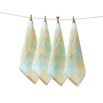 "zhenxinmei 4 Pack Premium algodón pequeño juego de toallas, toallas de mano de 10 """