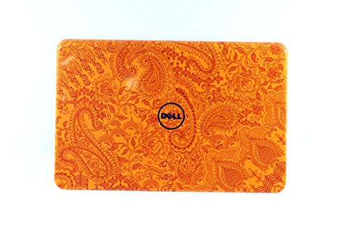 NEW Genuine OEM Dell Inspiron 15R N5110 Laptop Notebook Display Visual Monitor 15.6 Inch Rear Back Switchable Paisley in Orange Cover Top Panel Case Component Support Attachment Assembly Performance LCD LID 6K7MP -