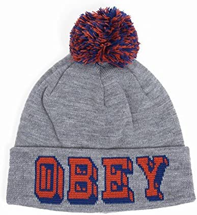Gorro OBEY University Beanie Heather Grey Pom Pom: Amazon.es: Ropa ...