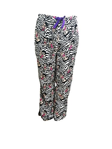Pants Boop Lounge Betty - Betty Boop Women's Sleepwear Plush Fleece Lounge Pajama Sleep Pants S To XL (Zebra, M)