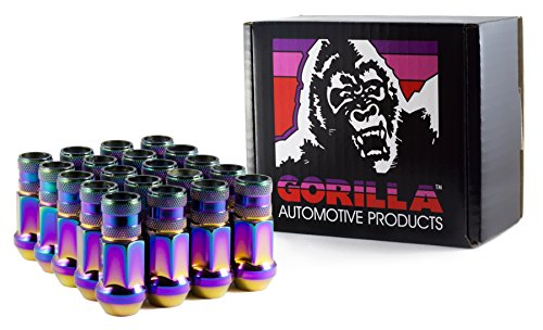 Gorilla Automotive 45038PL-20 12mm x 1.50 Thread Size Forged Steel Prism Open End Lug Nut, (Pack of 20) (Race Lug Nuts)