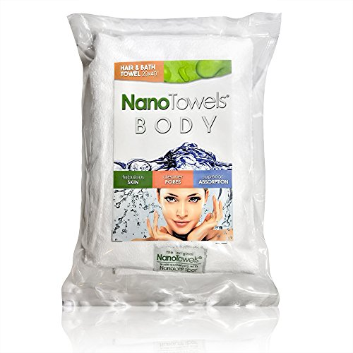 Nano Towels Body Bath & Shower Hair Towel. Super Absorbent. Wipes Away Dirt, Oil and Cosmetics. Use As Your Sports, Travel, Fitness, Kids, Beauty, Spa Or Salon Luxury Towel. 20 x 40