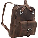 Vagabond Traveler Full Grain Cowhide Leather Backpack (Distress)