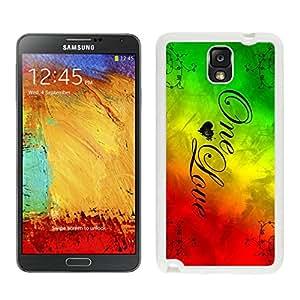 Rasta Reggae (2) Samsung Galaxy Note 3 White Phone Case 370 Samsung Galaxy Note3 White Phone Case 370