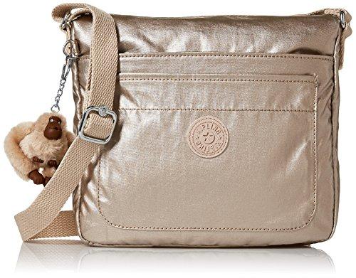 Kipling Women's Sebastian Crossbody Bag, Sparklygld