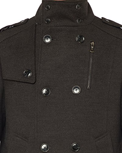 Luciano Natazzi Men's Stylish Top Coat Classic Double Breasted Pea Coat (44 US - 54 EU, Charcoal Gray) by Luciano Natazzi (Image #3)
